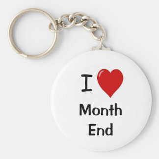 I Love Month End - I Heart Month End Basic Round Button Key Ring