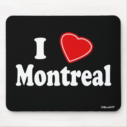 I Love Montreal Mouse Pad