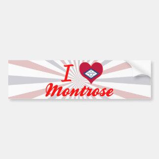 I Love Montrose, Arkansas Bumper Sticker