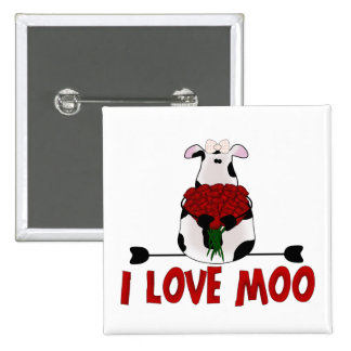 I Love Moo Buttons
