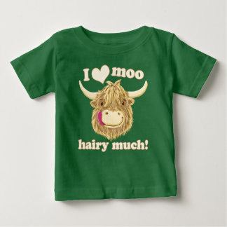 I Love Moo Highland Cow Baby T-Shirt