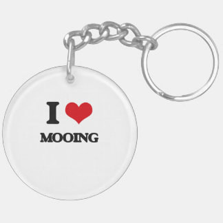 I Love Mooing Keychains