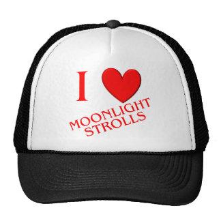 I Love Moonlight Strolls Cap