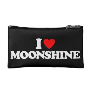 I LOVE MOONSHINE COSMETICS BAGS