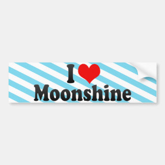 I Love Moonshine Bumper Sticker