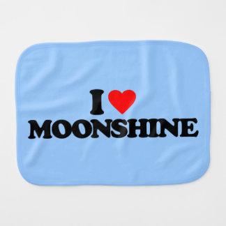 I LOVE MOONSHINE BURP CLOTH