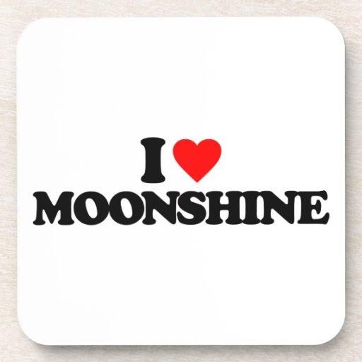 I LOVE MOONSHINE DRINK COASTER