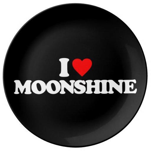 I LOVE MOONSHINE PORCELAIN PLATES