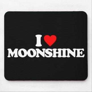 I LOVE MOONSHINE MOUSE PAD