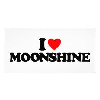 I LOVE MOONSHINE PHOTO GREETING CARD