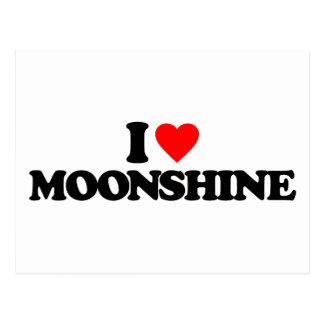 I LOVE MOONSHINE POSTCARD