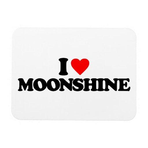 I LOVE MOONSHINE RECTANGLE MAGNETS
