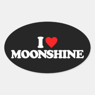 I LOVE MOONSHINE STICKER