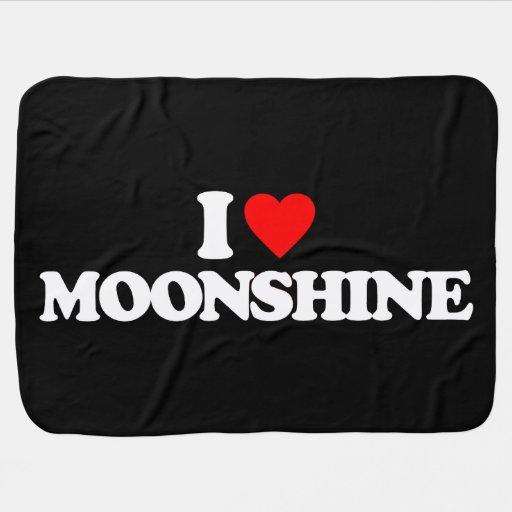 I LOVE MOONSHINE BABY BLANKETS