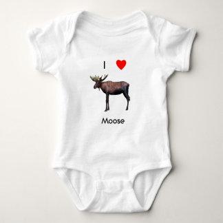 I love moose baby bodysuit