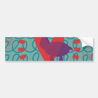 I love Moose Heart Doodle Nature Lover Design Bumper Sticker