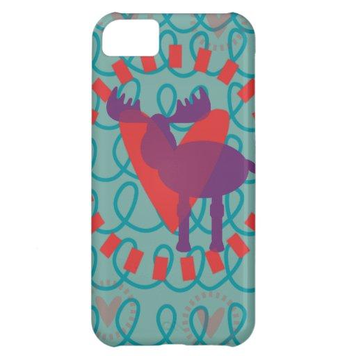 I love Moose Heart Doodle Nature Lover Design Case For iPhone 5C