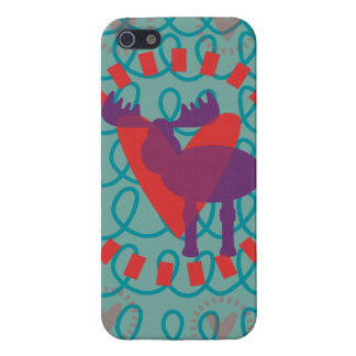I love Moose Heart Doodle Nature Lover Design iPhone 5 Cover