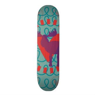I love Moose Heart Doodle Nature Lover Design Skate Board