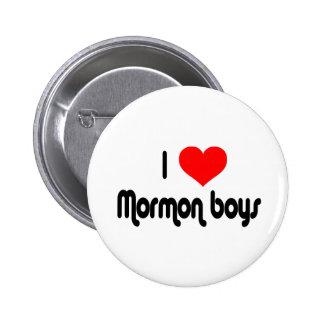 I Love Mormon Boys 6 Cm Round Badge