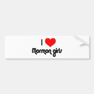 I love Mormon girls Bumper Sticker