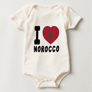 I Love Morocco Baby Bodysuit