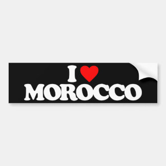 I LOVE MOROCCO BUMPER STICKER