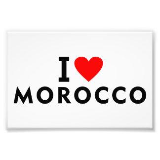 I love Morocco country like heart travel tourism Photo Print