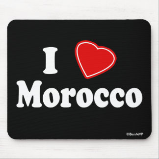 I Love Morocco Mouse Pad