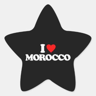 I LOVE MOROCCO STICKER
