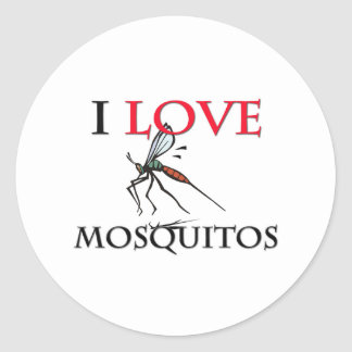 I Love Mosquitos Classic Round Sticker