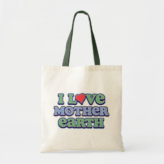 I Love Mother Earth Accent Tote Bag