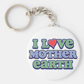 I Love Mother Earth  Keychain
