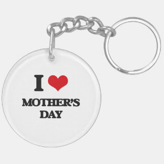 I Love Mother'S Day Keychain