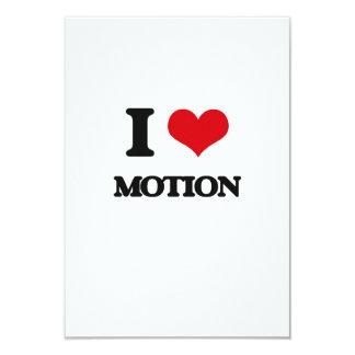 "I Love Motion 3.5"" X 5"" Invitation Card"