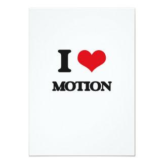 "I Love Motion 5"" X 7"" Invitation Card"