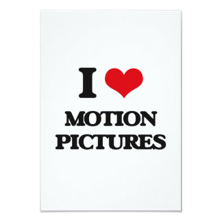 """I Love Motion Pictures 3.5"""" X 5"""" Invitation Card"""