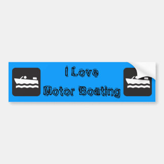 I Love Motor Boating Bumper Sticker