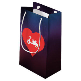I Love Motor Scooters Small Gift Bag