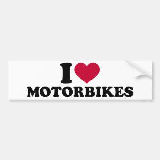I love motorbikes bumper sticker