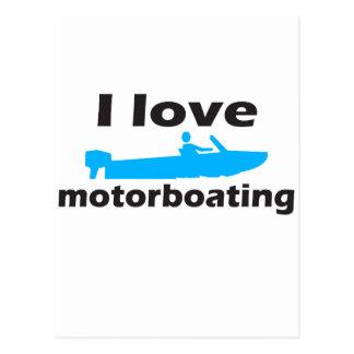 I Love Motorboating Postcard