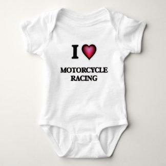 I Love Motorcycle Racing Baby Bodysuit