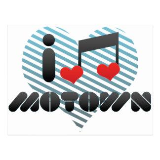 I Love Motown Postcard