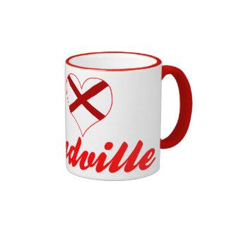 I Love Moundville, Alabama Ringer Mug