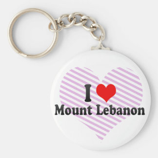 I Love Mount Lebanon, United States Basic Round Button Key Ring