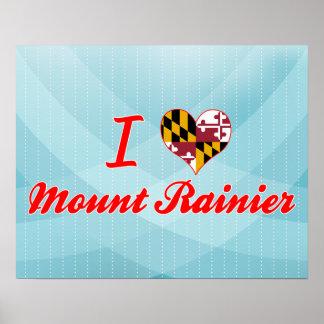 I Love Mount Rainier, Maryland Print