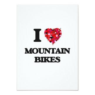 I Love Mountain Bikes 13 Cm X 18 Cm Invitation Card