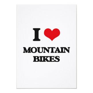 "I Love Mountain Bikes 5"" X 7"" Invitation Card"