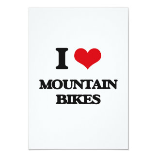 "I Love Mountain Bikes 3.5"" X 5"" Invitation Card"
