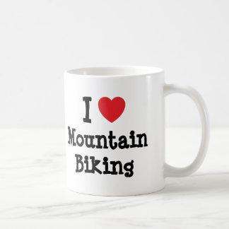 I love Mountain Biking heart custom personalized Mug